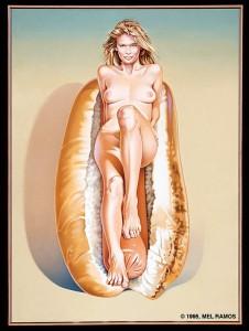 Doggie Dinah, 1995, tuval üzerine yağlıboya, 157.48 x 114.3 cm.