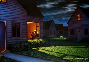 Leonard Koscianski, Suburban, night-lights.