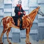 Üstünlüğün Hukuku, 200x200cm, 2013, Tuval üzerine yağlıboya