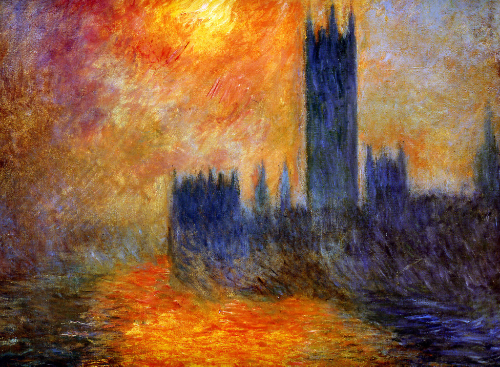Monet-House of Parliament Sun