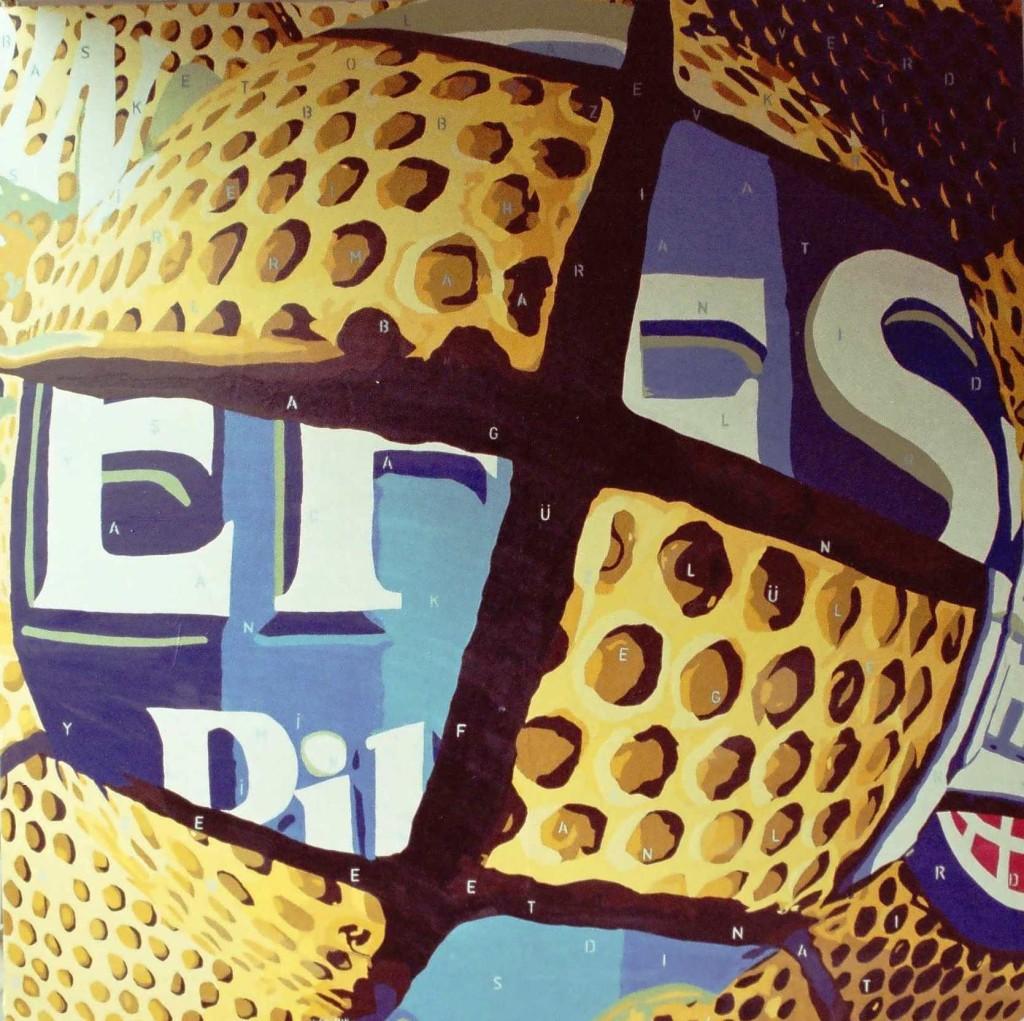 2010, Basketbol bana zevk verirdi, 150x150 cm. tuval üzerine akrilik boya, 7000 TL.