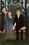 Portrait of Apollinaire and Marie Laurencin, by Henri Rousseau, 1909