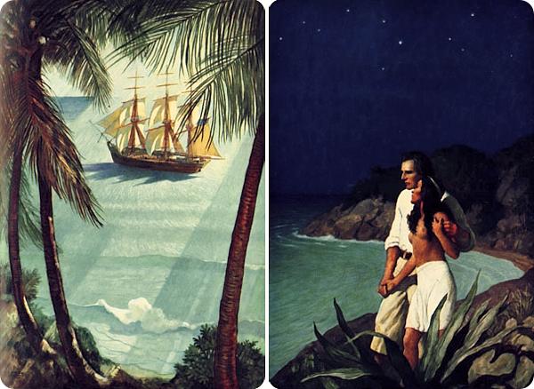 4 Illustrations by N C Wyeth