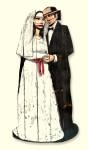 Baris Cihanoglu, ''Gelin Damat- Bride Groom'', 183 x 78 x 2 cm,  yanm-- ah-ap üzeri. yagli boya, 2014
