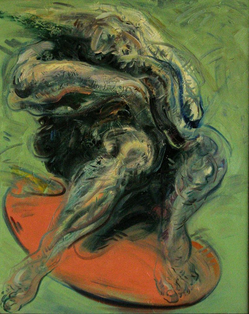 Mahmut Öztürk, Dayak Yiyen Asyalı, 100x80 cm., T.ü.y.b., 2003