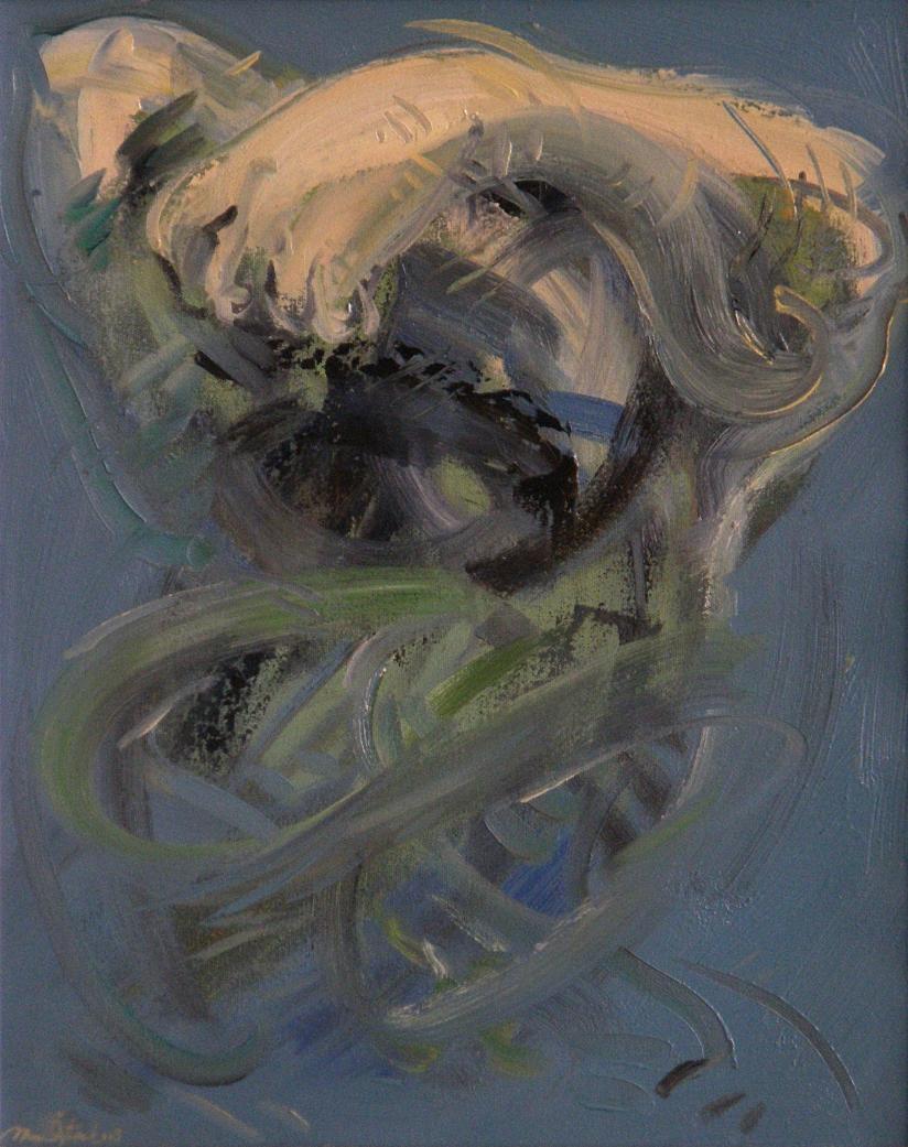 Mahmut Öztürk,  Podyumda Asyalıya Şiddetli Terör, 50x40 cm., T.ü.y.b., 2003