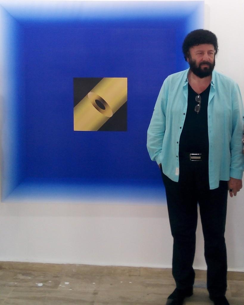 Bünyamin Özgültekin, Kara Delik, 150 x 150 cm.,T.ü.akr.b., 2015, Seyfi Kaya Kol.