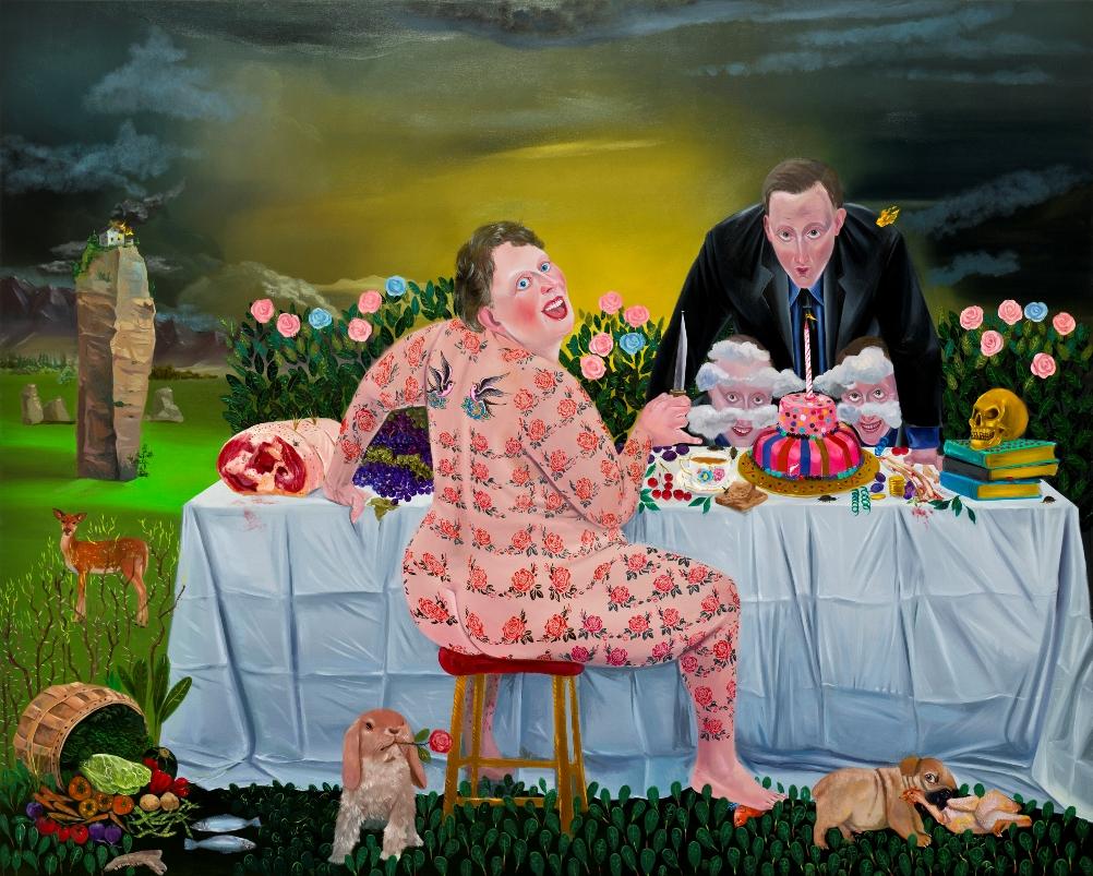Ali Elmacı, Onu Öldür Beni Güldür V, 175 x 220 cm.