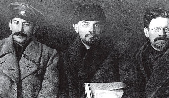 Stalin, Lenin, Troçki