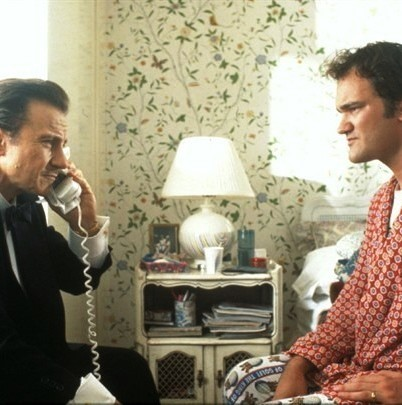 Harvey Keitel & Quentin  Tarantino in Pulp Fiction