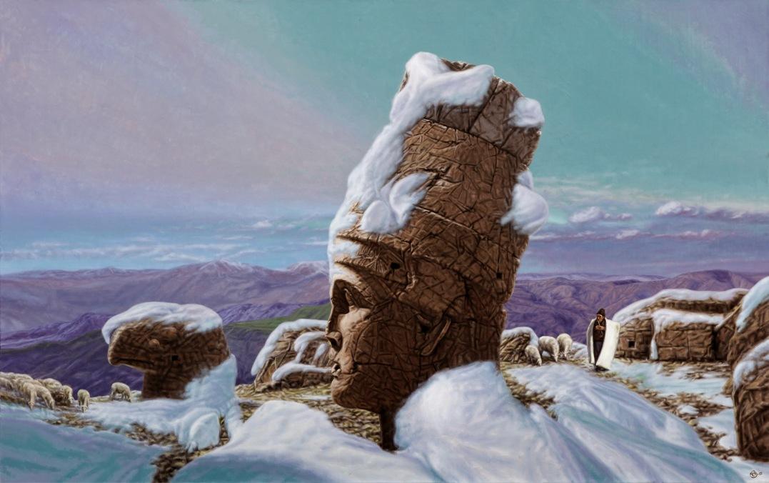 Çoban ve Kral, 2015, Tuval üzerine Yağlıboya, 120x190 cm