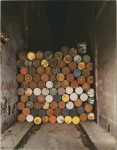 Christo and Jeanne Claude_Iron Curtain_Wall Of Oil Barrels_Rue Visconti_Paris_ 1962