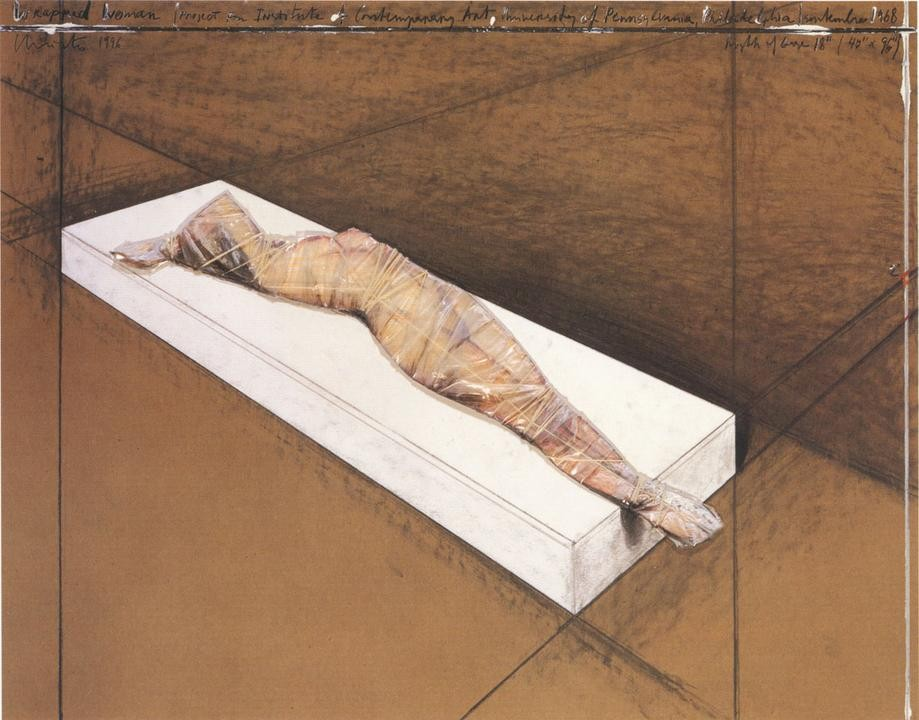 Christo, Wrapped Woman, Project For The Institute Of Contemporary Art, Phileadelphia, 1997