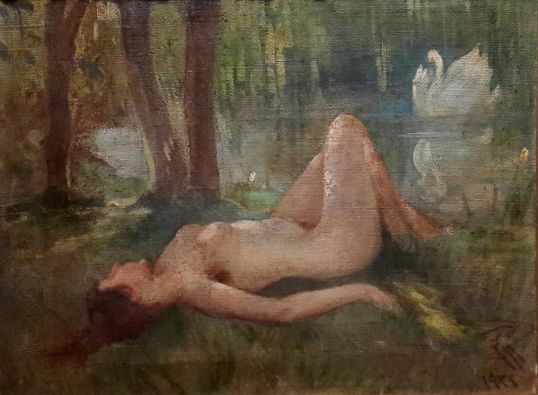İbrahim Çallı, Kadın ve Kuğu, 1922