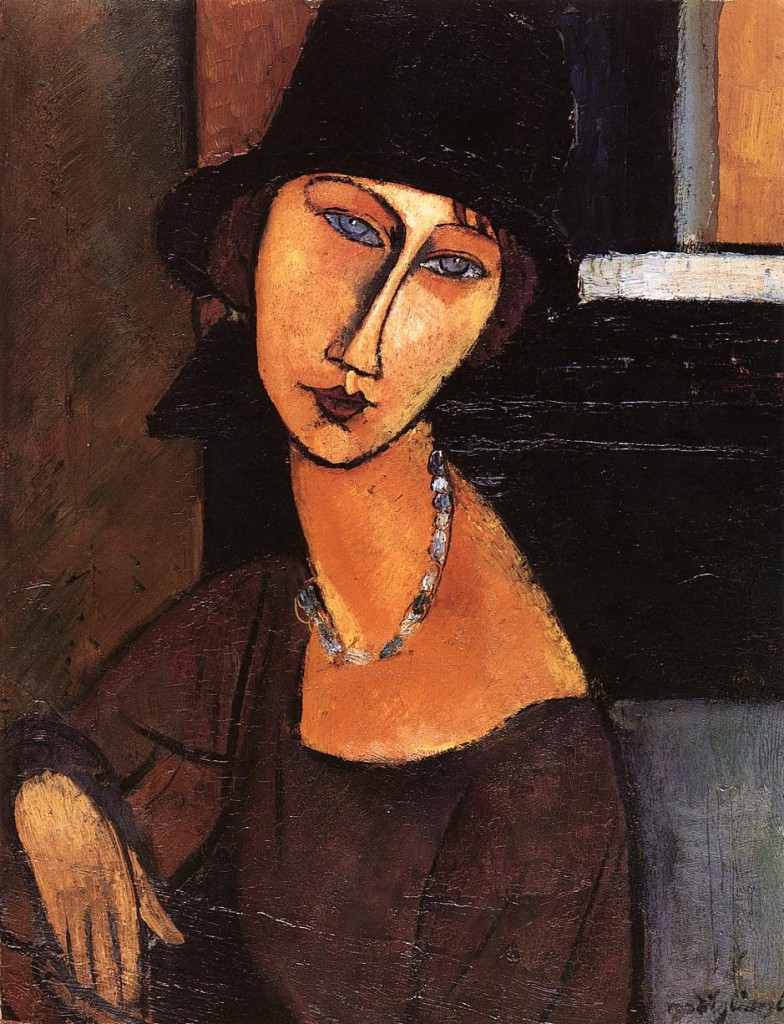 Modigliani, Jeanne Hebuterne with Hat and Necklace,1917