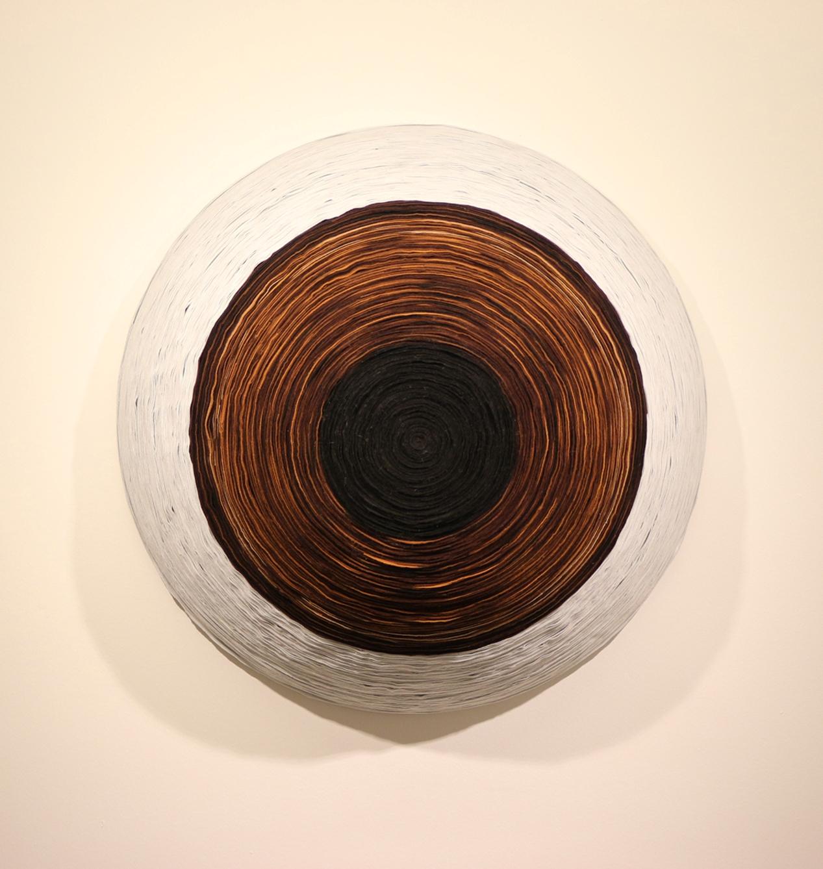 Hakan Kırdar, Nazar, Ø 90 x 30 cm., Keçe,  2015