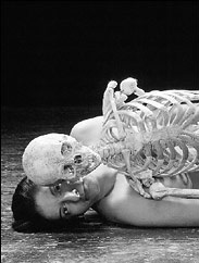 M. Abramovic, in Nude With Skeleton.