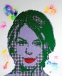 Didem Yağcı, Michelle, 170 x 135 cm, Tuval uzerine kumas katmanlari,keçe ve mürekkep Multi-layered fabrics, felt and ink on canvas