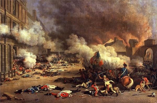 Jacques Bertaux - Prise du palais des Tuileries - 1793