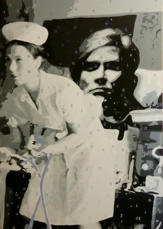 Deniz Gökduman, Andy Öldü Yaşasın Pop, 140 x 100 cm., T.ü.akr.b., 2016.10