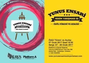 Yunus Ensari Resim Yarışması 2016 Ödül Töreni ve Sergi Davetiyesi