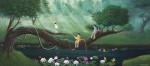Hayat Ağacı_40 x 90 cm tuval üzerine yağlıboya