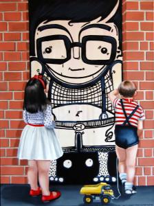 MİHRİBAN MİRAP, Yaşım Çocuk, 2016, 80x60cm, tü akrilik