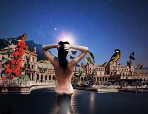 Damla Özdemir, Hülya A Pleasant Daydream, 110 x 170 cm, Üç boyutlu kolaj Three dimensional collage, 2017