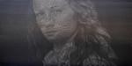 """3- Kadir Akyol, """"Sophie Turner"""", 2017, tuval üzerine yağlıboya, 90x180 cm."""