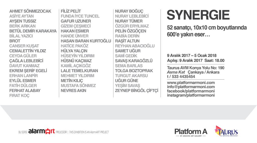 PlatformA SYNERGIE Davetiye2 2017-2