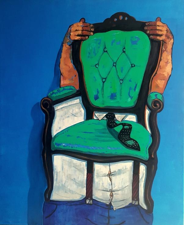 ''Yeşil koltuk - Green armchair'' 165 x 135 cm t.üz. y.b 2018