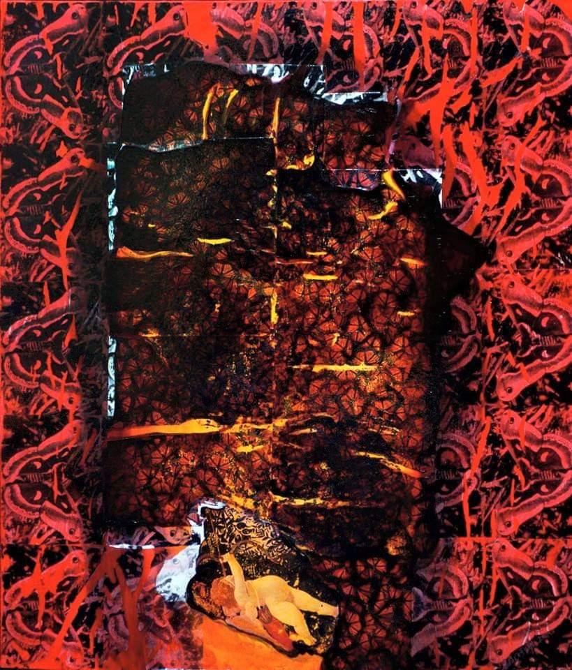 Eda-Çığırlı-Eros-120x100-cm.-tuval-üzerine-karışık-teknik-2015-Portakal-Çiçeği-Koleksiyonu