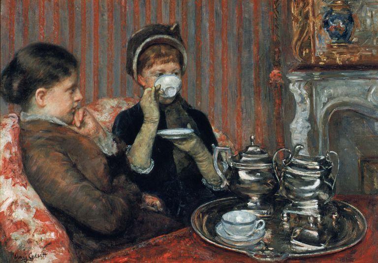Mary Cassatt, a cup of tea