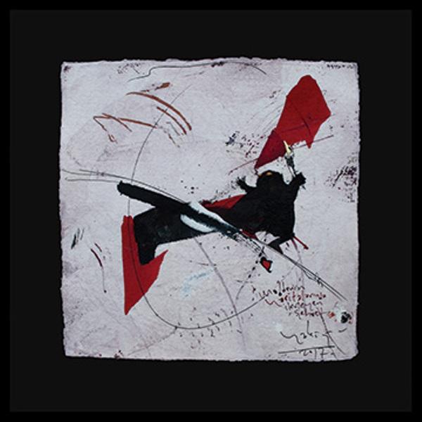 Habip Aydoğdu, El yapımı kağıt üzerine akrilik boya, 31x31cm. 2017