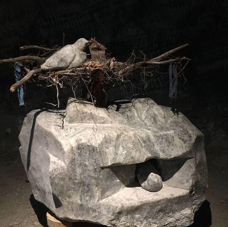 Vecdi Uzun, Çankırı Tuz Mağarasında Bir Genç Sanatçı Sefer Oruç Ve Tuzdan Heykeller