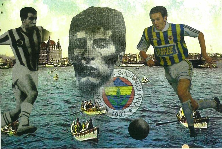 Bedri Baykam, İstanbul Sihirbazları Puskaş, Ergun Öztuna, Can Bartu, Elvir Baliç, Tuval üzerine dijital baskı, 120x180cm., 2007