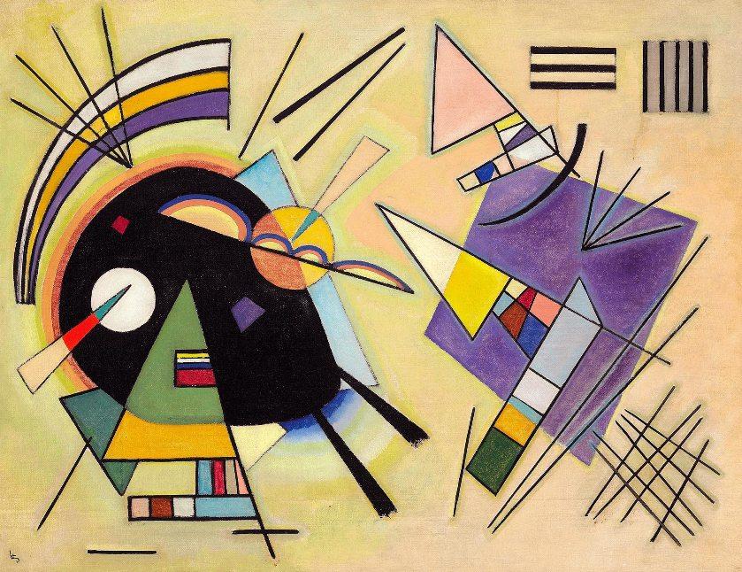 Vasiliy Kandinskiy, Siyah ve Mor, 1923